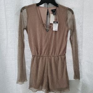 NEW w/ Tags Rue21 Gold and Beige Romper